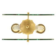 Fontana Arte Fontana Arte 4 Light Pendant Brass Chandelier 1940s - 987238