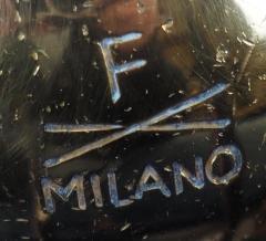Fontana Arte Fontana Arte Coffee Table Stamped F Milano with X Motif 1950s - 1056031