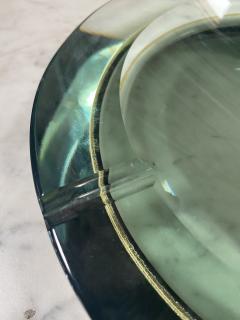 Fontana Arte Fontana Arte Pocket Ashtray Curved Crystal 1960 Italy - 2074697