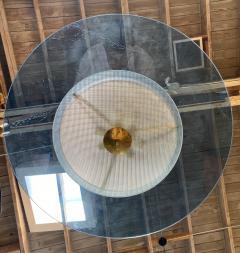Fontana Arte Fontana Arte Style Blu Chandelier Italy 1960s - 1205118