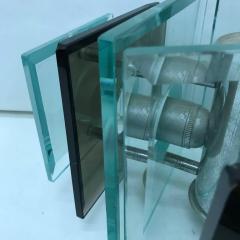 Fontana Arte Fontana Arte style italian1970s Steel and Glass Pendant - 724702