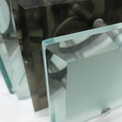 Fontana Arte Fontana Arte style italian1970s Steel and Glass Pendant - 724706
