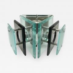 Fontana Arte Fontana Arte style italian1970s Steel and Glass Pendant - 770502