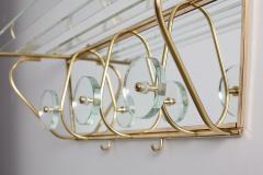 Fontana Arte ITALIAN FONTANA ARTE STYLE GLASS AND BRASS COAT RACK - 1570323