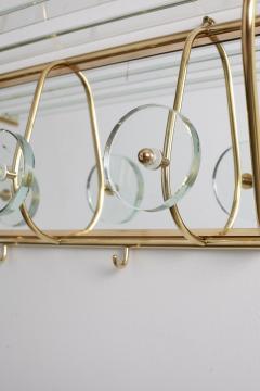 Fontana Arte ITALIAN FONTANA ARTE STYLE GLASS AND BRASS COAT RACK - 1570329