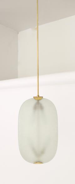 Fontana Arte Italian Brass and Glass Pendant Chandelier by Pietro Chiesa for Fontana Arte - 1308467