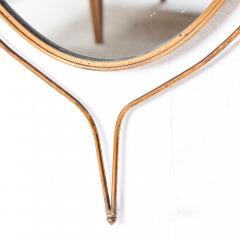 Fontana Arte Italian Regency Sculpted Modern Brass Oval Wall Mirror Style Fontana Arte 1950s - 1640366