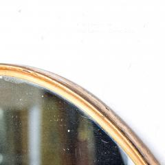 Fontana Arte Italian Regency Sculpted Modern Brass Oval Wall Mirror Style Fontana Arte 1950s - 1640368