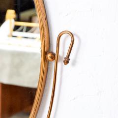Fontana Arte Italian Regency Sculpted Modern Brass Oval Wall Mirror Style Fontana Arte 1950s - 1640369