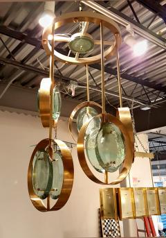 Fontana arte mid century modern glassbrass chandelier attributed fontana arte mid century modern glass brass chandelier attributed to fontana arte 548345 aloadofball Images