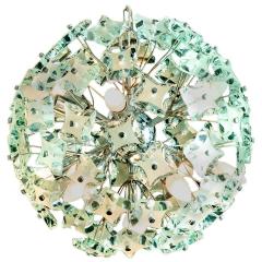 Fontana Arte Midcentury Sputnik Cut Glass Chandelier style of Fontana Arte circa 1960s - 1764712