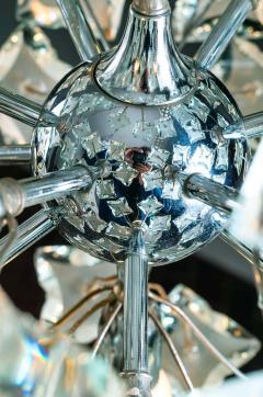 Fontana Arte Midcentury Sputnik Cut Glass Chandelier style of Fontana Arte circa 1960s - 1764713