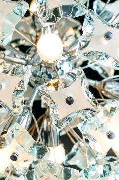 Fontana Arte Midcentury Sputnik Cut Glass Chandelier style of Fontana Arte circa 1960s - 1764716