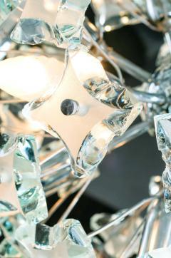 Fontana Arte Midcentury Sputnik Cut Glass Chandelier style of Fontana Arte circa 1960s - 1764718