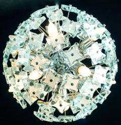 Fontana Arte Midcentury Sputnik Cut Glass Chandelier style of Fontana Arte circa 1960s - 1764720