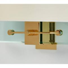 Fontana Arte Pair of Fontana Arte Glass Sconces by Nathalie Grenon ca 1990 - 625873