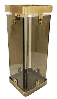 Fontana Arte Rectangular Fontana Arte Umbrella Stand with Smoked Glass - 1623228