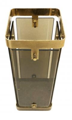 Fontana Arte Rectangular Fontana Arte Umbrella Stand with Smoked Glass - 1623229