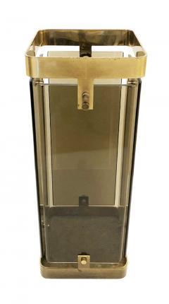 Fontana Arte Rectangular Fontana Arte Umbrella Stand with Smoked Glass - 1623231