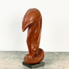 Fork Art Carving of a Flamingo American - 1687450