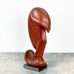 Fork Art Carving of a Flamingo American - 1687453