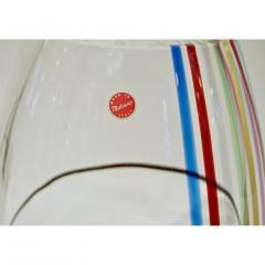 Formia Murano Formia 1970 Italian Tall Yellow Green Red Blue Crystal Murano Glass Pop Art Vase - 1088186