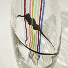 Formia Murano Formia 1970 Italian Tall Yellow Green Red Blue Crystal Murano Glass Pop Art Vase - 1088189