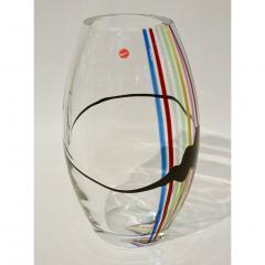 Formia Murano Formia 1970 Italian Tall Yellow Green Red Blue Crystal Murano Glass Pop Art Vase - 1088190