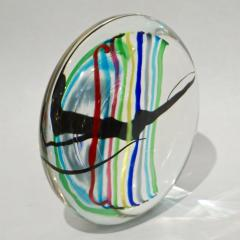 Formia Murano Formia 1970s Italian Yellow Red Blue Crystal Murano Glass Modern Round Sculpture - 1093409