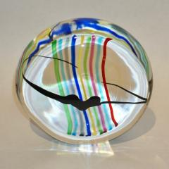 Formia Murano Formia 1970s Italian Yellow Red Blue Crystal Murano Glass Modern Round Sculpture - 1093410