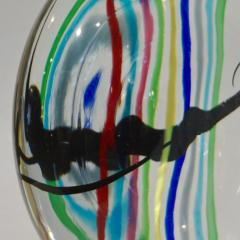 Formia Murano Formia 1970s Italian Yellow Red Blue Crystal Murano Glass Modern Round Sculpture - 1093433
