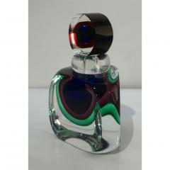Formia Murano Formia 1990s Modern Italian Organic Blue Green Purple Murano Glass Bottle - 1524183