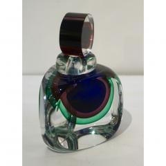 Formia Murano Formia 1990s Modern Italian Organic Blue Green Purple Murano Glass Bottle - 1524184