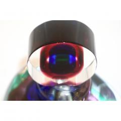 Formia Murano Formia 1990s Modern Italian Organic Blue Green Purple Murano Glass Bottle - 1524185