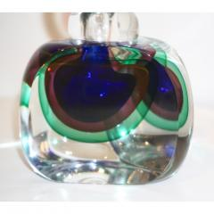 Formia Murano Formia 1990s Modern Italian Organic Blue Green Purple Murano Glass Bottle - 1524186