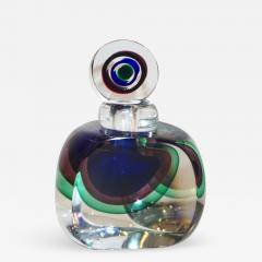 Formia Murano Formia 1990s Modern Italian Organic Blue Green Purple Murano Glass Bottle - 1526933