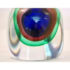Formia Murano Formia 1990s Modern Italian Organic Green Blue Magenta Murano Glass Bottles - 455612