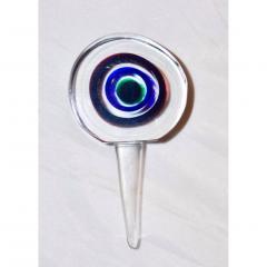 Formia Murano Formia 1990s Modern Italian Organic Green Blue Magenta Murano Glass Bottles - 455615
