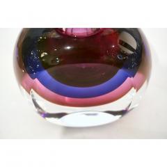 Formia Murano Formia 1990s Modern Italian Organic Purple Cobalt Blue Pink Murano Glass Bottle - 1510342