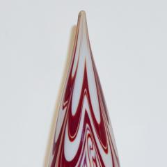 Formia Murano Formia Italian Vintage Murano Glass White and Red Christmas Tree 1980s - 1216923