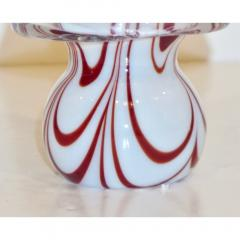 Formia Murano Formia Italian Vintage Murano Glass White and Red Christmas Tree 1980s - 1216925
