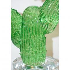 Formia Murano Formia Marta Marzotto Vintage Murano Glass Black Flower Cactus - 827766