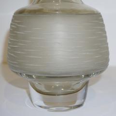 Formia Murano Formia Vintage Italian Amber Champagne Battuto Frosted Murano Art Glass Vase - 978113