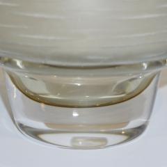 Formia Murano Formia Vintage Italian Amber Champagne Battuto Frosted Murano Art Glass Vase - 978114