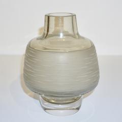 Formia Murano Formia Vintage Italian Amber Champagne Battuto Frosted Murano Art Glass Vase - 978115