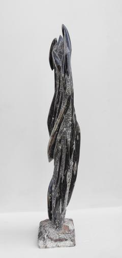 Fossilized Orthoceras Natural Granite Sculpture Specimen Petrified Cephalopods - 1835316