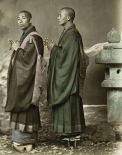 Four Felice Beato Hand Painted Japanese Photographic Studio Prints circa 1860s - 1468724