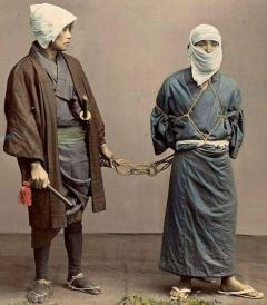 Four Felice Beato Hand Painted Japanese Photographic Studio Prints circa 1860s - 1468725