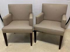 Four HBF Stamped Covered Upholstered Armchairs by Pace - 1305689
