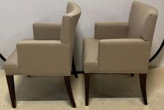 Four HBF Stamped Covered Upholstered Armchairs by Pace - 1305690